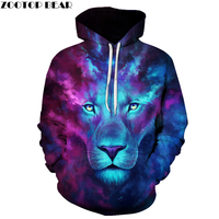 Galaxy Lion Men Women Hoodies Hot Quality 3d Sweatshirts Funny Animal Pattern Pritned Pullover Autumn Winter
