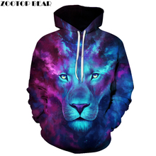 Galaxy Lion Men Women Hoodies Hot Quality 3d Sweatshirts Funny Animal Pattern Pritned Pullover Autumn Winter Hooded Streetwear