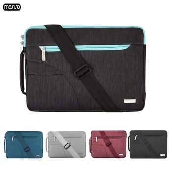 71011 6121313 314 1515 415 61717 317 4notebook laptop sleeve bags neoprene soft handdle laptop tablet pc case bag MOSISO Laptop Sleeve Bag for Macbook Air 13 Laptop Case 15.6 11 12 14 15 inch Bags for Men Women 2018 Zipper Unisex Shoulder Bag