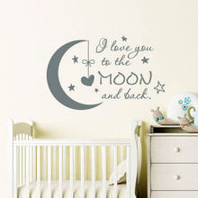 Classic I Love You to the Moon and Back Kids Quotes Kinderkamer Muurstickers Babykamer Decor Kinderkamerdecoratie