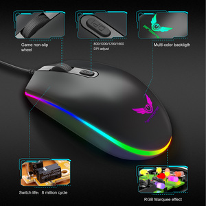 Image 5 - Optical USB Wired Gaming Mouse 1600DPI Mini Mice RGB Colorful Lights Wired Mouse For Laptop PC Computer Business Office Gamer