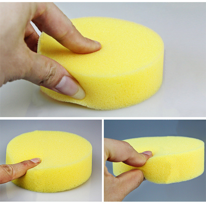 12PCS Wax sponges Round Car Polish Sponge Car Wax Foam Sponges Applicator Pads for Clean Car Cleaner Care Tools sponges in Sponges Scouring Pads from Home Garden