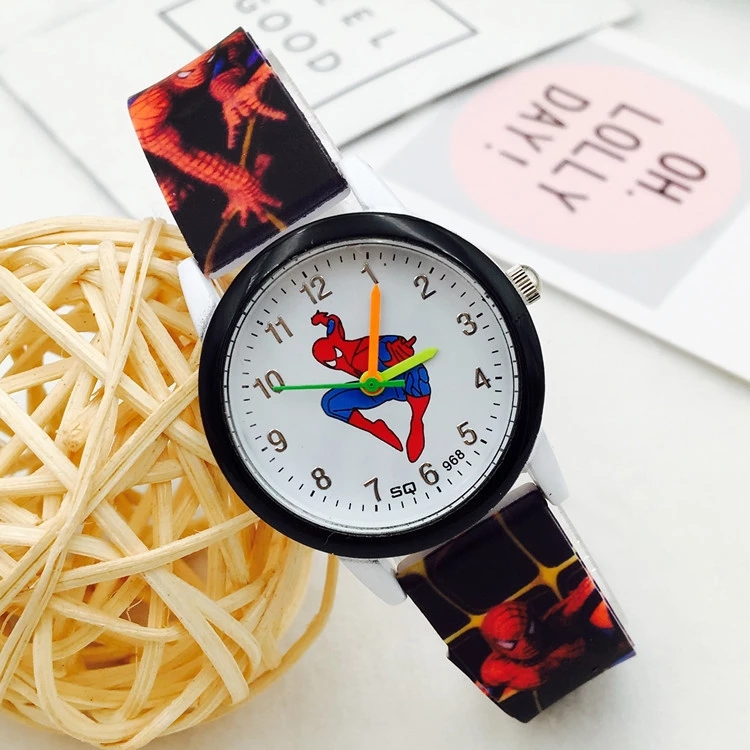 Spiderman Children's Watch Boys, Girls, Primary And Middle School Students Watch Boys Cartoon Watch Boys Electronic Quartz Watch