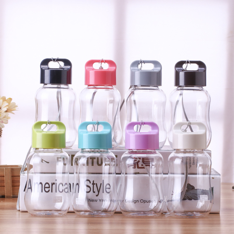 200ml Creative Plastic PP Mini Water Bottle Outdoor Portable Tour Camp Cycling Leakproof Drink Bottles with Rope School Bottle-in Water Bottles from Home & Garden on AliExpress