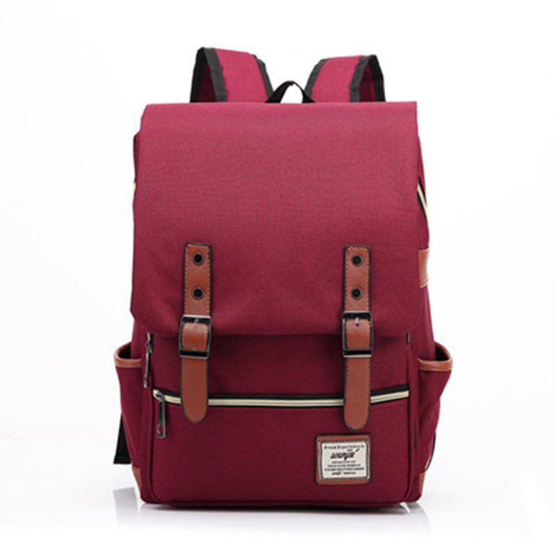 Fashion Vintage Laptop Backpack Women Canvas Bags  Men Oxford Travel Leisure Backpacks Retro Casual Bag School Bags For Teenager 1