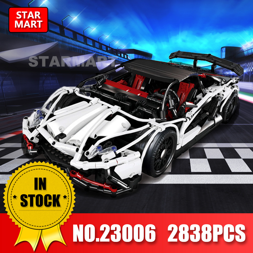 Lepin Technic 23006 2838Pcs The Hatchback Type R Set MOC Super Racing Car legoinge Building Blocks Toys for Children brick gifts lepin 23006 2838pcs technic series the super racing car set moc 3918 model building block brick diy toy for children gift