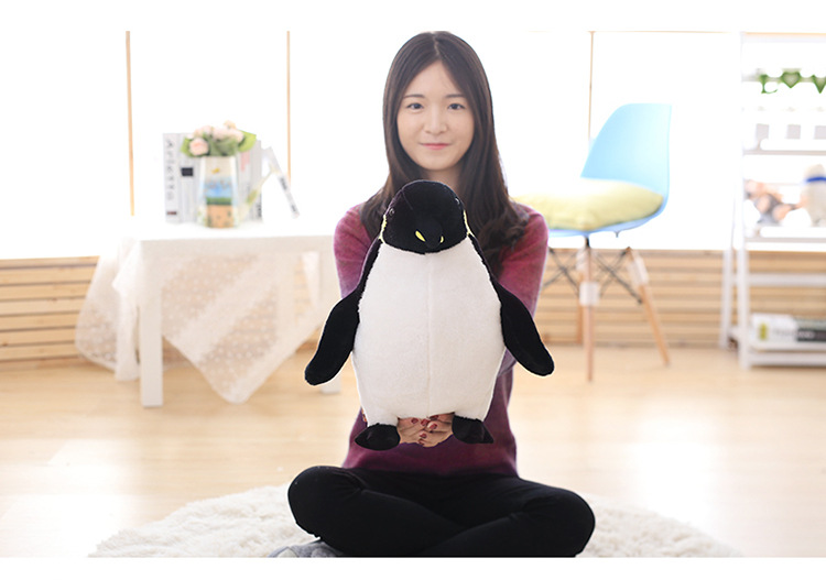 middle plush penguin toy stuffed black penguin doll birthday gift about 50cm hot sale 50cm the last airbender resource appa avatar stuffed plush doll toy x mas gift kawaii plush toys unicorn