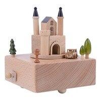 Винтаж поворотный Классическая Music Box Днем замок украшения Music Box украшение дома Интимные аксессуары креативный подарок новое поступление