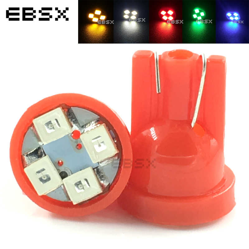 EBSX 2 PCS T10 194 168 1210 4 SMD 4 LED 3528 LED Car Light Bulbs 12V Instrument Lights White Blue Red Yellow Auto Automobiles