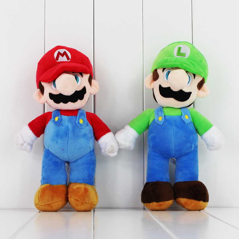 Hot Super Mario Bros Luigi Plush Dolls Toys Cute Stand MARIO & LUIGI Soft Stuffed Animals Toys For Boys Children Birthday Gifts