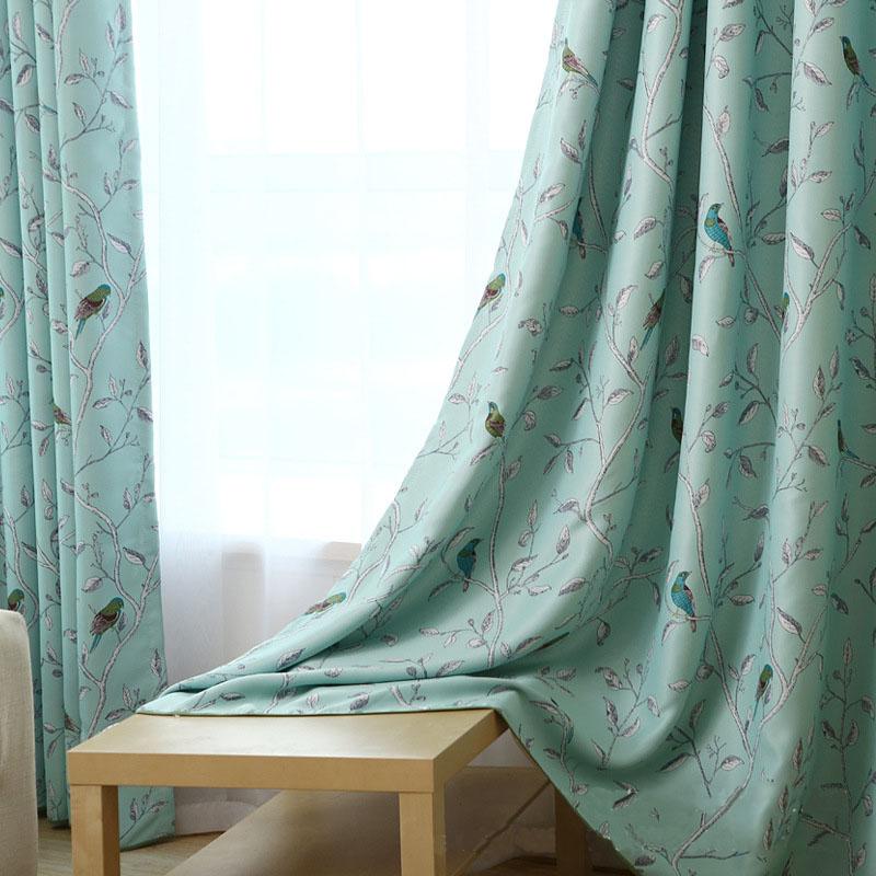 modernas cortinas de estilo grueso de imitacin de aves forestales apagn persianas de tela cortinas para