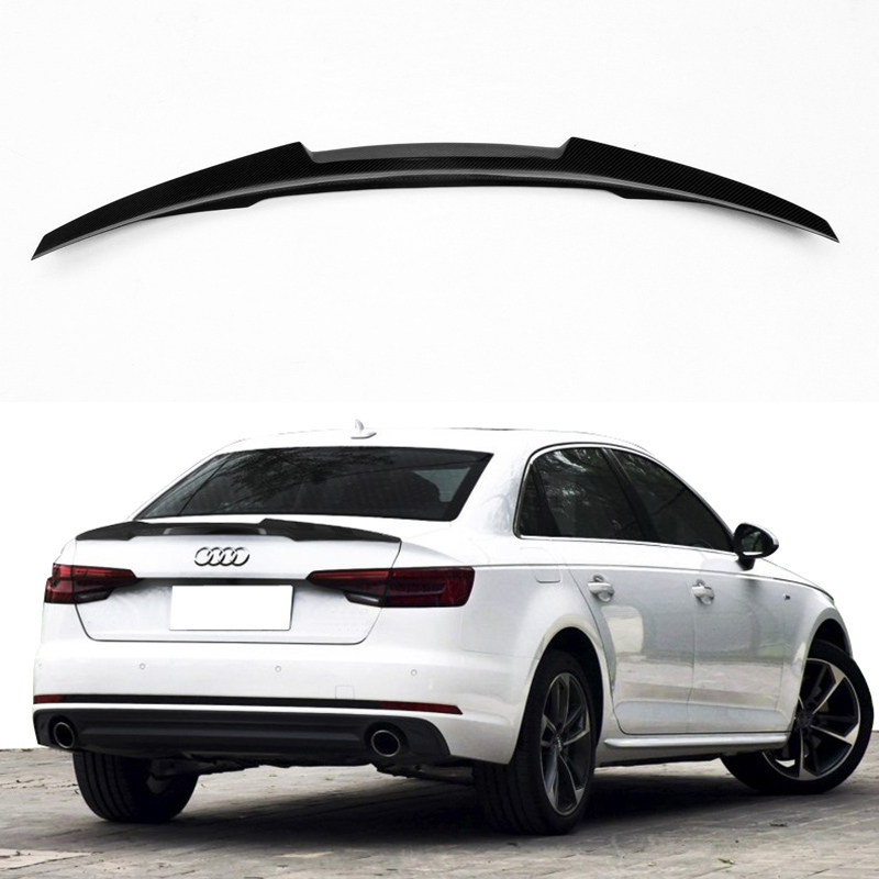 A4 B9 Carbon Fiber Car Rear Trunk lip spoiler wing For Audi A4 B9 2016UP M4 Style цены