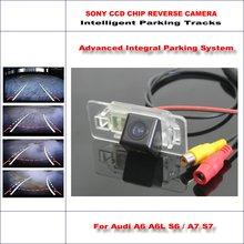 Dynamic Guidance Rear Camera For Audi A6 A6L S6 /A7 S7 2011~2015 / 580 TV Lines HD 860 * 576 Pixels Parking Intelligentized liislee dynamic guidance rear camera for toyota ist urban cruiser 2007 2016 hd 860 pixels parking intelligentized