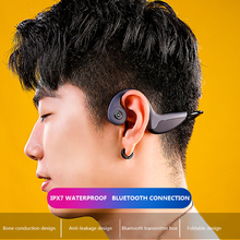 Bone Conduction Bluetooth Headset Game Subwoofer Sports Wireless Running Blue Mini Version Ipx6
