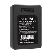 Original SJCAM SJ7 Star Dual Charger+2pcs SJCAM Batteries 1000mAh Rechargeable Li-ion Battery for SJ Cam SJ7 Sport Action Camera