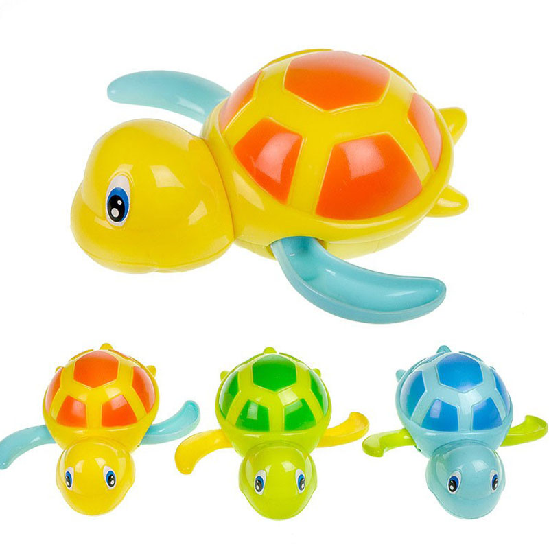 Funny Crtoon Animal Clockwork Tortoise Baby Turtles Toys Infant Crawling Wind Up Toy Bath Pool Tub Animals Sounding Toys Kids