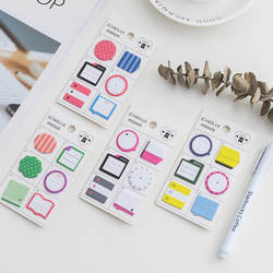 Милые комбинированные индекс бумага Набор стикеров для заметок Adhesivas Kawaii Наклейки измерительный прибор офисные принадлежности