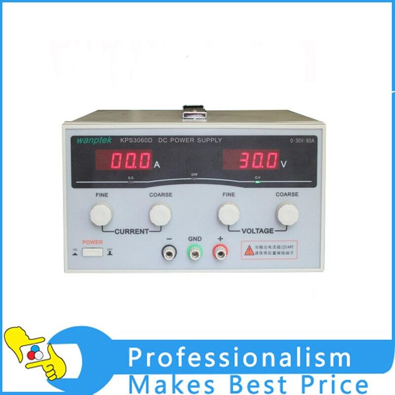 Hot KPS3060D High precision High Power Adjustable LED Dual Display Switching DC power supply 220V EU 30V/60A kps 3060d dc power supply 30v 60a adjustable power supply 30v 60a led high power switching variable dc power supply 220v