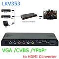 Новый VGA/YPbPr Компонентный/Композитный RCA CVBS + Аудио в 1080 P HDMI Конвертер Скейлер Совершенно Lenkeng LKV353
