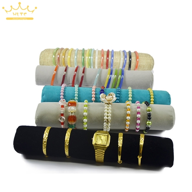 Wholesale 5 Color Jewelry Roll Bag Jewelry Organizer Bracelets