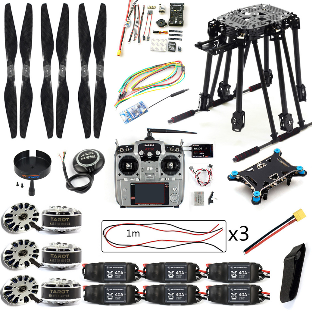 DIY Set PIX4 Flight Control ZD850 Frame Kit M8N GPS Remote Control Radio Telemetry ESC Motor Props RC 6-Axle Drone F19833-D inav f3 deluxe flight control m8n gps set integrated barometer electronic compass set high fixed point