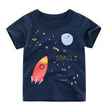 Летние мягкие детские футболки с буквенными принтами для мальчиков Изделие из хлопка с короткими рукавами Повседневные топы, майка