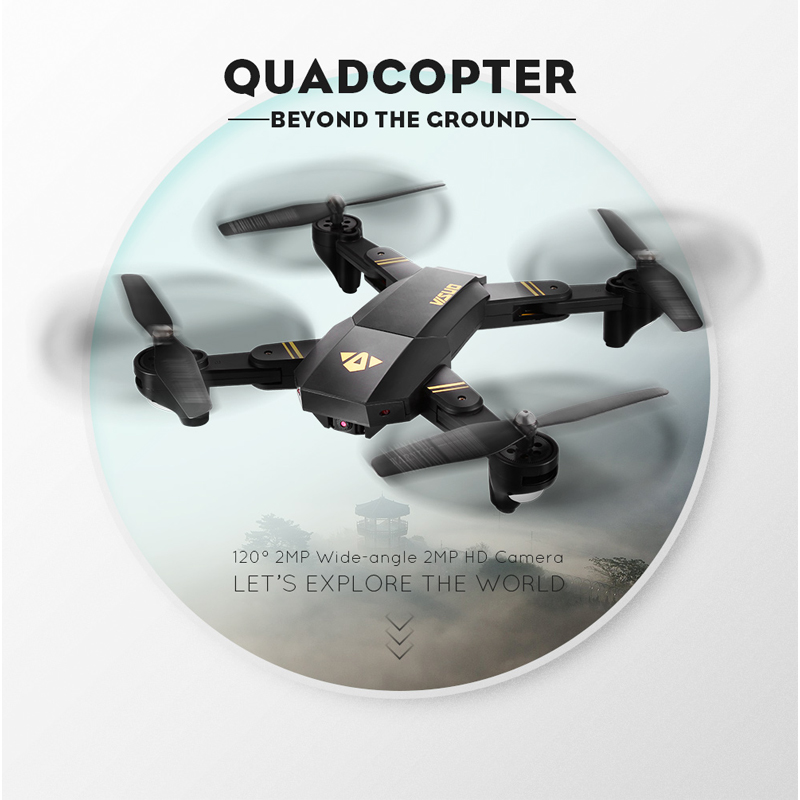 VISUO Xs809HW Xs809W Foldable Drone with Camera HD 2MP Wide Angle WIFI FPV Altitude Hold RC Quadcopter Helicopter VS H47 Dron 2