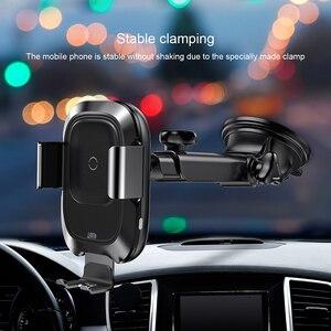 Image 3 - Baseus 10w qi carregador de carro sem fio para o iphone x xs 8 samsung s10 s9 indução infravermelha rápido carregamento sem fio do telefone carro carregador