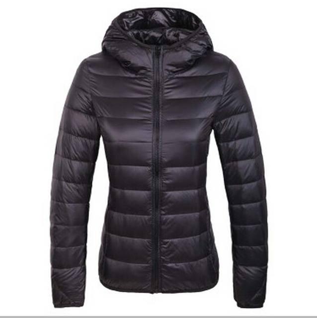2015 otoño abrigo de plumón de pato luz moda femenina delgada delgada pato blanco abajo cubre con una capucha femenina chaqueta BL1303