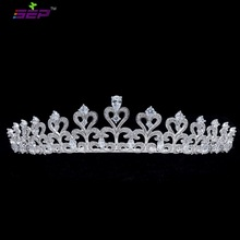 2017 New Leaves CZ Cubic Zirconia Bridal Wedding Tiara Crown Hair Jewelry Accessories Rhinestone Crystals Tiara TR16408