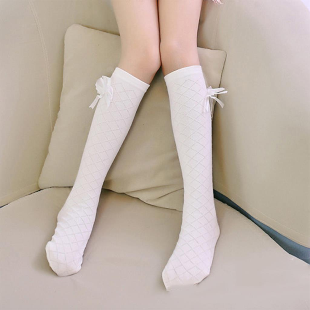 Baby-Kid-Socks-Girl-Children-Cute-Princess-Solid-Color-Bow-Pattern-Knee-High-Long-Socks-3