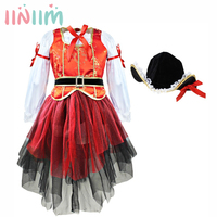 Carnival Halloween Dresses Christmas Pirate Girls Party Cosplay Costume For Children Kids Dress Hat Outfits Clothing