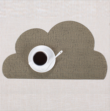 5pcs Solid Color PVC Bar Mat Cloud Shaped Plate Table Waterproof Heat insulation and non slip Western food mat Home Kitc