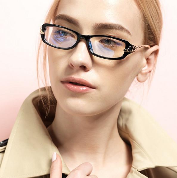 Novos Europeus E Americanos Retro Óculos De Armação de Leopardo Cabeça de Metal Simples Espelho Óculos de Armação para As Mulheres