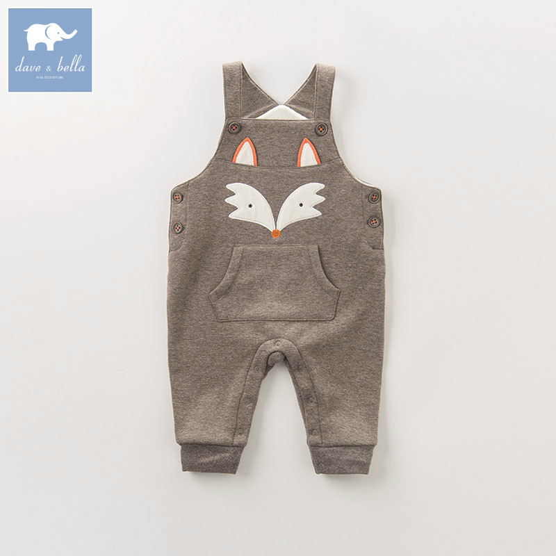 DB5461 dave bella autumn toddler overalls baby boys 100% cotton overalls infant clothes baby cute overalls db5941 dave bella autumn baby boys toddler stars print overalls children high quality overalls infant denim clothes
