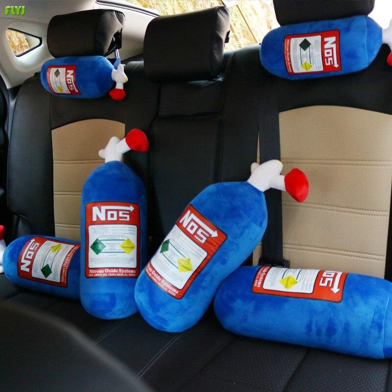 FLYJ 2018 Auto NOS Nitrous Auto Kissen Sitzbezug Hellaflush Turbo Neck Ruht Kissen Stärken NOS Kopfstütze Unterstützung Ein Stück