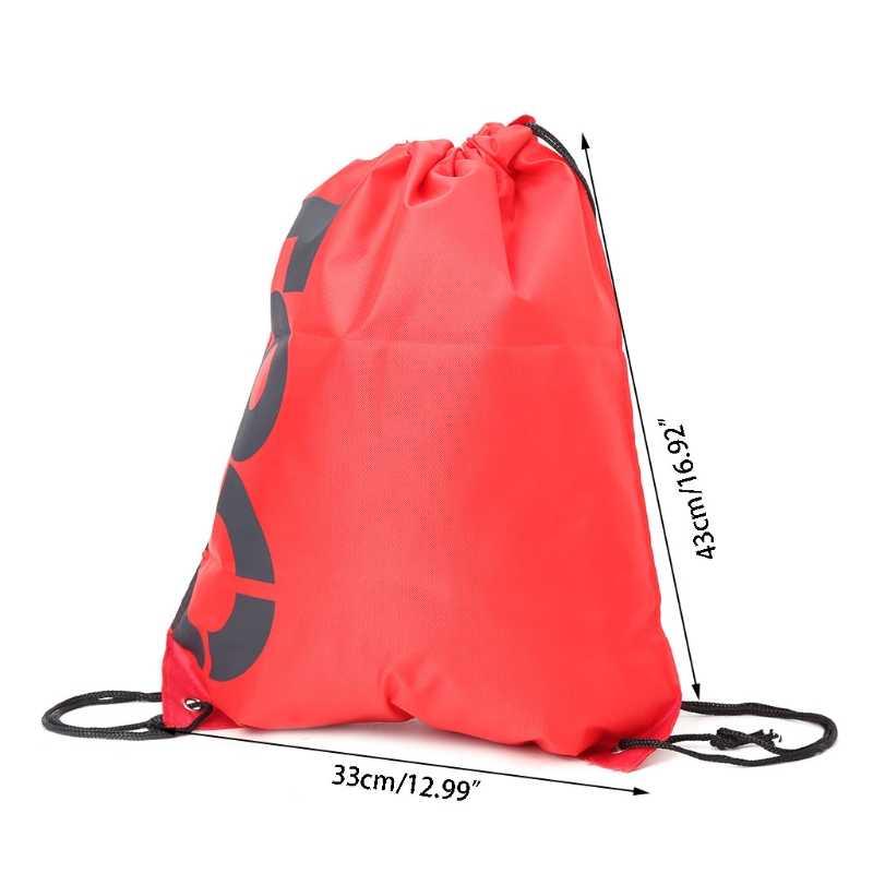 THINKTHENDO Ransel Belanja Serut Tas Sepatu Travel Tahan Air Pantai Pack