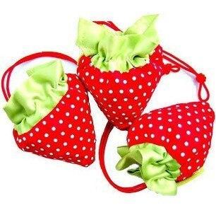 25pcs/Lot Foldable Strawberry Shopping Bag Several Colors Wholesale