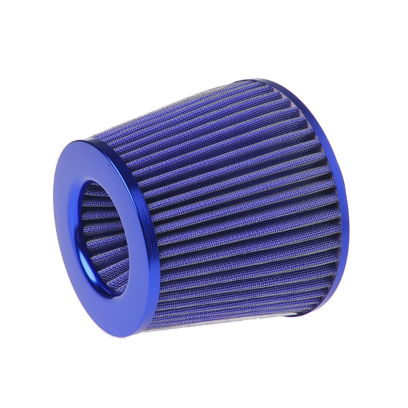 Universal Cotton Gauze 3 Inch Inlet Round Conical Slant Air Intake Filter Red