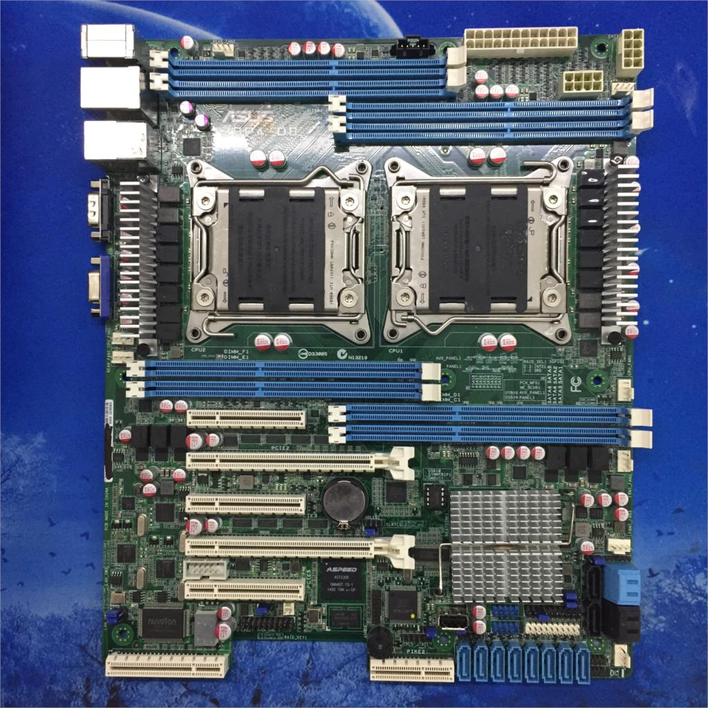 ASUS Z9PA-D8 Server Motherboard <font><b>C602</b></font> Chip 8 memory slots Dual 2011 pin used 90%new image