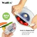 WALFOS Unidades 1 pieza comida grado mantener alimentos fresco envoltura reutilizable alta elasticidad silicona alimentos envolturas sello vacío Bol cubierta tapa elástica