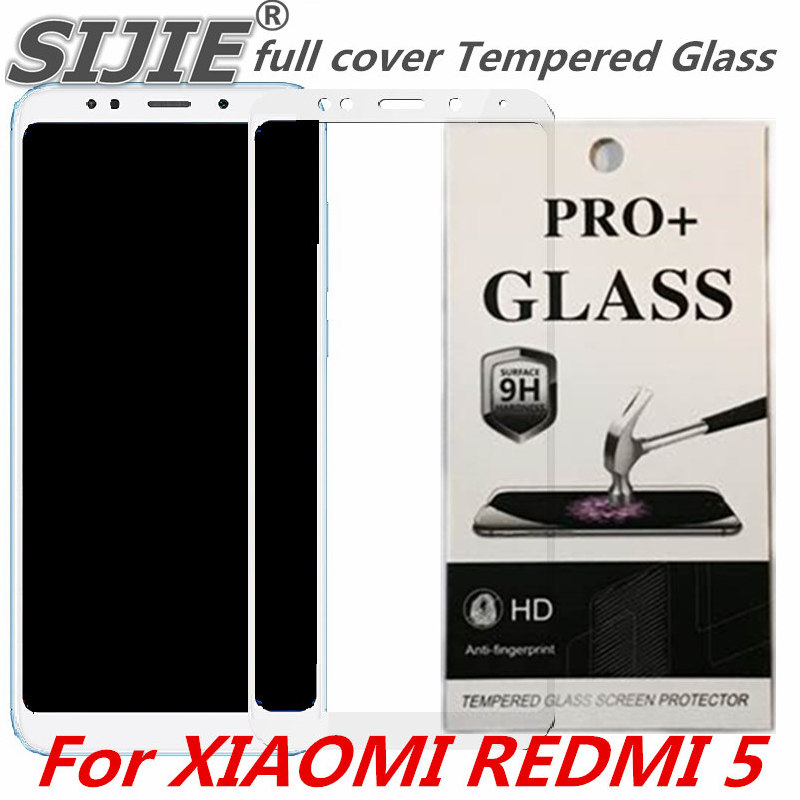 full cover Tempered Glass For XIAOMI REDMI 5 5.7 inch redmi5 Screen protective smartphone case on toughened 9H frame display