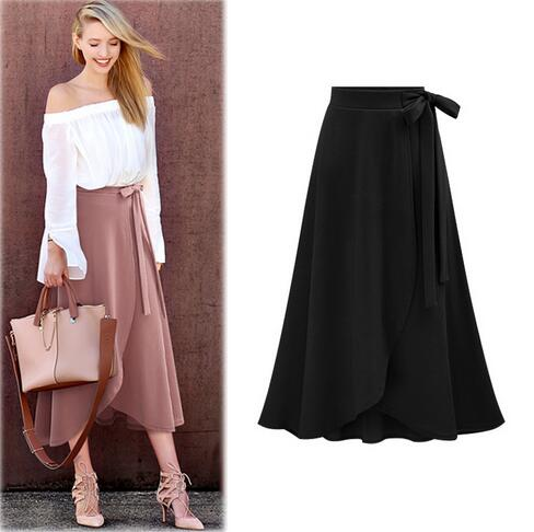 efd4909e2a Clobee Women Chiffon Skirt Vintage High Waist Skirts Plus Size Retro Saia  Midi Rokken 2018 Summer Jupe Femme 6XL 5XL Faldas Y59-in Skirts from Women's  ...