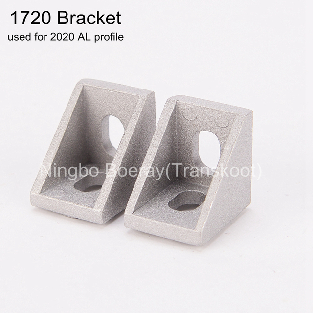 20pcs 2020 Slot6 Corner Angle L Brackets Connector Fasten connector Aluminum Profile Accessories