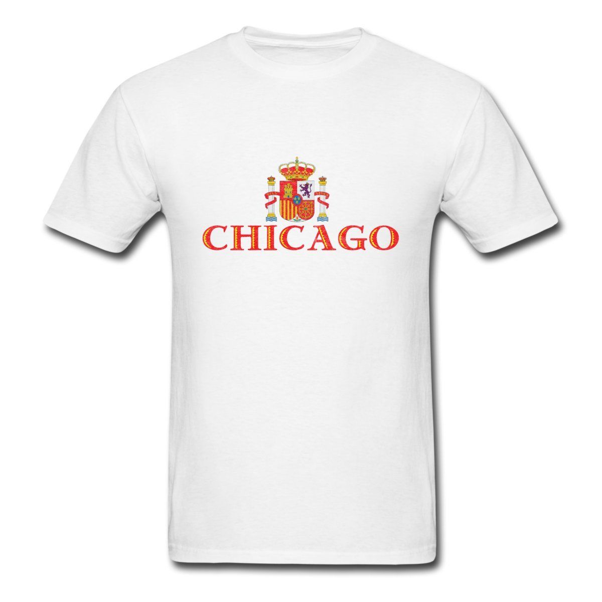Design t shirt sell - Chicago Spanish Coat Of Arms Men S T Shirt New Men Cotton T Shirt Cool