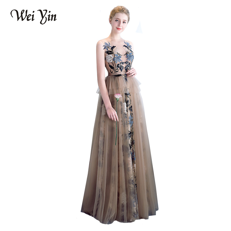 WEIYIN Robe De Soiree New Sexy Straight Long Evening Dress Female 2018  Elegant Evening Gowns Long Prom Party Dresse WEIYIN357-in Evening Dresses  from ... 8e2c907ffb45