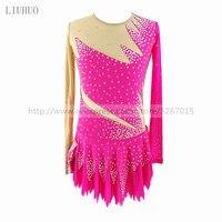 Платье для фигурного катания под заказ для соревнований по фигурному катанию юбки для конькобежцев для девочек женские роликовые катания р