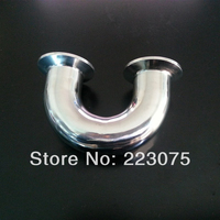 New Arrival Stainless Steel SS304 OD 51mm Sanitary Clamp Connection 180 Degree U Pipe Fitting 2