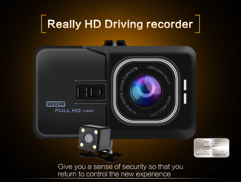 17 Registrar Car Camera DVR 1080P HD 1 Degree Dvr Black Box Car Mirror Camera Dual Camera Lens With Rear View Camera Dashcam 2