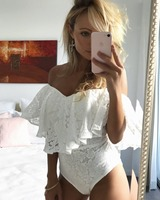 2018 new hot women Shoulder lace one piece Rompers